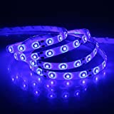 XKTTSUEERCRR Waterproof Blue LED 3528 SMD 300LED 5M 16.4Feet Flexible Light Strip 12V 2A 24W 60LED/M (Color: blue, Tamaño: 3528)