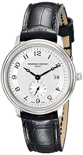 Frederique Constant Women's FC-235AS1S6 Slim Line Black Leather Strap Watch image
