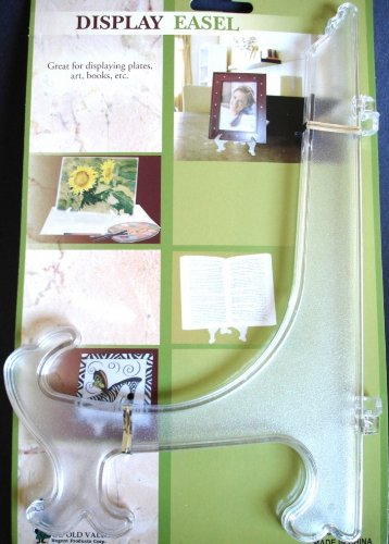 1 LARGE Clear Acrylic DISPLAY EASEL PLATE HOLDER STAND