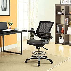 LexMod Edge Drafting Chair, Brown
