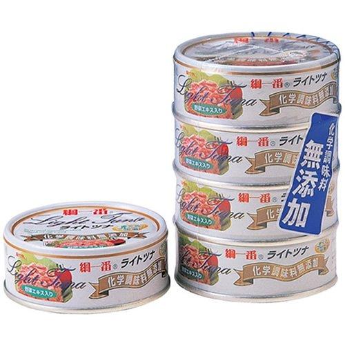 富永貿易 綱一番 まぐろフレーク缶詰 70g×4個