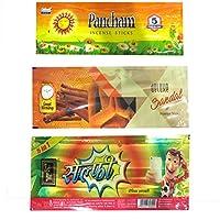 DDCS Natural Incense sticks - Combo of Pancham,Sandal & Selfie (Set of 3)