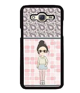 Fuson 2D Printed Girly Designer back case cover for Samsung Galaxy J5 J500F - D4420