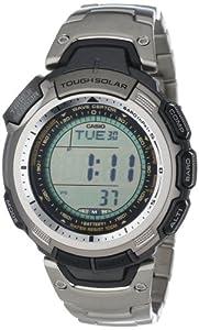 Casio Men's PAW1300T-7V Pathfinder Multi-Band Solar Atomic Silver Watch