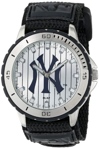 Game Time Men's MLB-VET-NY3 Veteran Custom New York Yankees Veteran Series Watch at Amazon.com