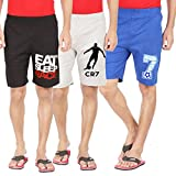 #2: Hotfits combo graphic cotton shorts pack of 3 (bkrace-grcr7-rb7)