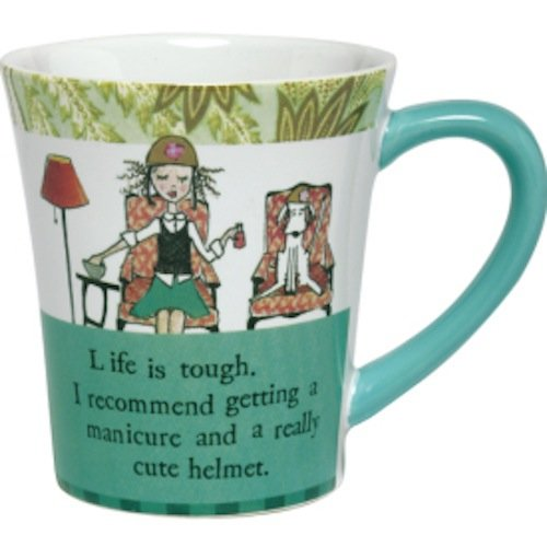 Curly Girl Ceramic Mug- Life is Tough - with Gift Box