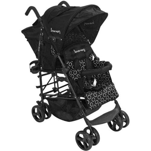 Kinderwagon Hop Tandem Umbrella Stroller Black V2 Baby