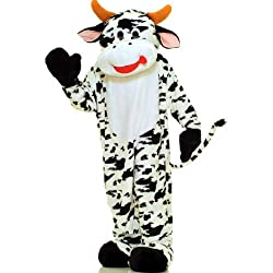 Cow Plush Economy Mascot Adult Costume - One-Size - Mascot Costumes