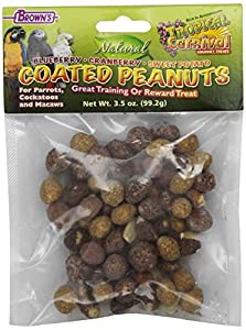 F.M.Brown's Tropical Carnival Natural Mixed Coated Peanuts, 3.5-Ounce Package
