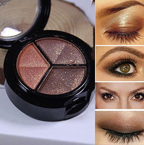 Eyeshadow,Baomabao 3 colors Professional Natural Smoky Cosmetic Set Matte Makeup Eye Shadow