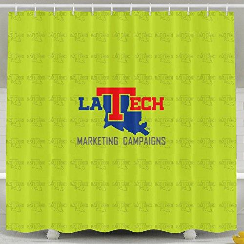 ASJDO Shower Curtains Louisiana Tech Bulldogs (Tattoo Machine Frame Bulldog compare prices)