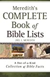 img - for Meredith's Complete Book of Bible Lists: A One-of-a-Kind Collection of Bible Facts book / textbook / text book
