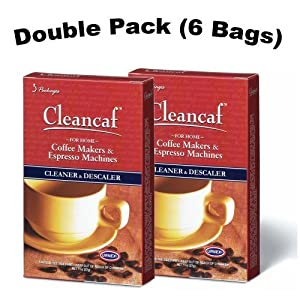Urnex Cleancaf Home Coffee Maker & Espresso Machine Cleaner ans Descaler 2 PACK by Urnex