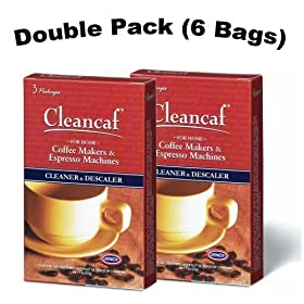 Urnex Cleancaf Home Coffee Maker & Espresso Machine Cleaner ans Descaler 2 PACK
