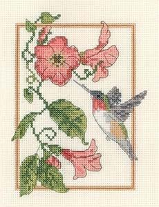 Candamar designs 13 x 18 cm hummingbird for Cross stitch kitchen designs