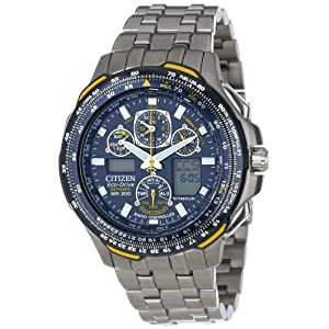 Citizen Men JY0050-55L Eco-Drive Blue Angels Skyhawk A-T Chronograph Titanium Watch Sale Cheap