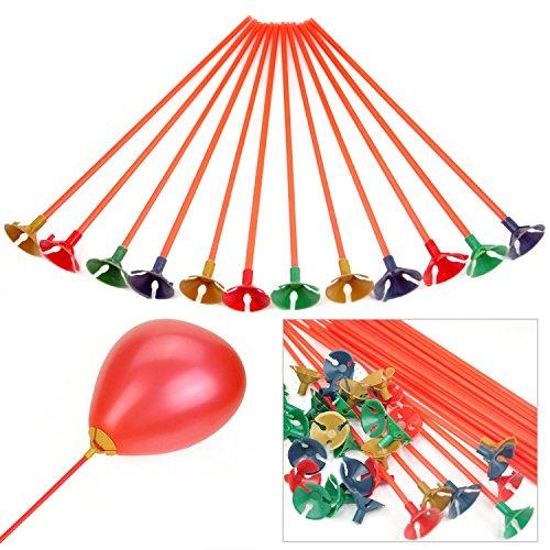 trixes-x100-plastic-balloon-holder-sticks-cups-multi-colour-party-decoration