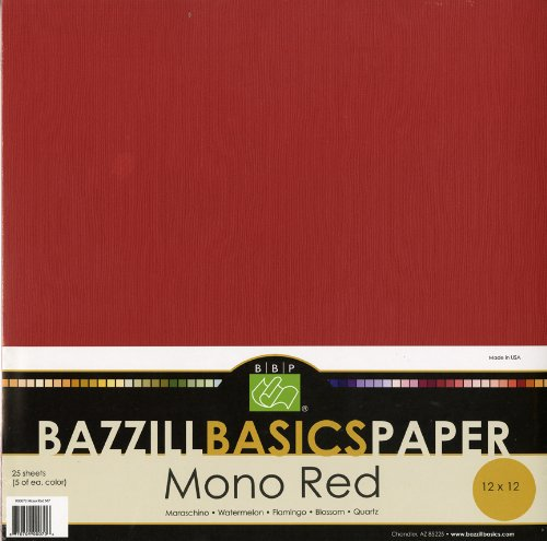 Bazzill Basics 12 by 12-Inch 25-Sheet Cardstock,