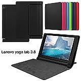 Lenovo YOGA Tab 3 8 850f ケース カバー 3点セット 液晶保護フィルム タッチペン 黒