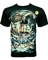 Rock Chang T-Shirt Pirate Skull (Glow In The Dark) Noir GR 526