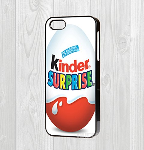 iPhone 4/5/5C/6/6+ Hard Case - Kinder Chocolate Egg Surprise (iPhone 4/4S, Black)