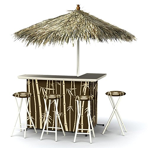 Best of Times Patio Bar and Tailgating Center Deluxe Package- Tiki (Outdoor Tiki Bar compare prices)