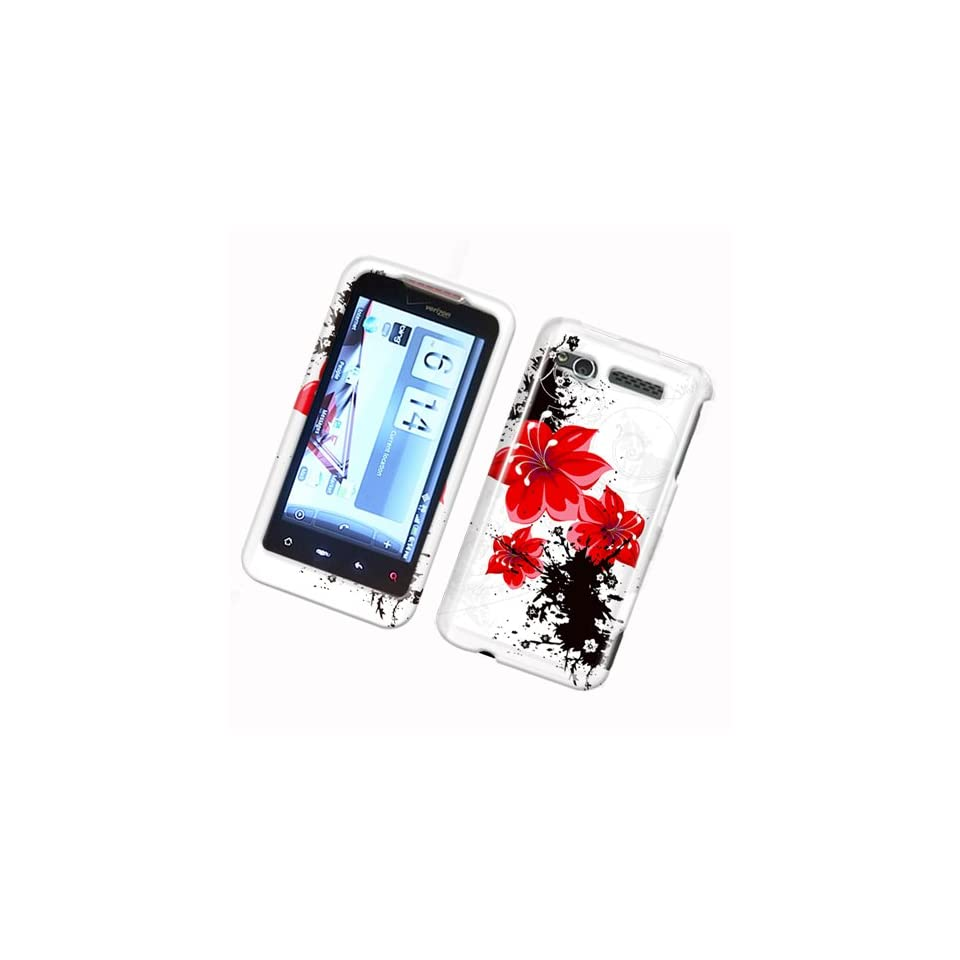 Red Lily Flower Snap on Hard Skin Cover Case for Verizon Htc G2 Merge