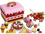 パーティにようこそ! 木製 おままごと デラックスセット ストロベリーチョコレートパーティ 豪華おもちゃ箱タイプ