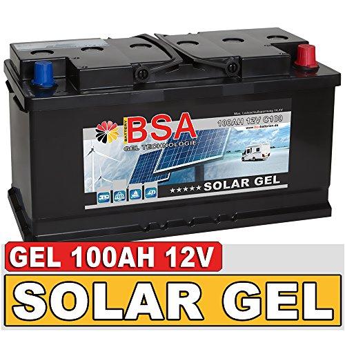 BSA-Solarbatterie-Gel-Batterie-100Ah-12V-Blei-Gel-Akku-Boot-Wohnmobil-Wohnwagen-Schiff-Marine-Batterie