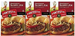 Fantastic Foods Vegetarian Sloppy Joe Mix, 4.4 oz, 3 pk