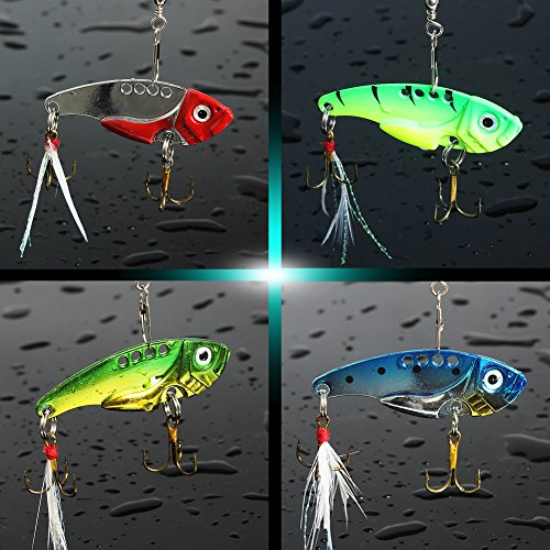 Sougayilang fishing lure bait set kit with fishing tackle for Best bait for freshwater fishing