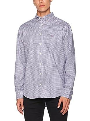 GANT Camisa Hombre Comfort Oxf Gingham Regular Bd (Violeta)