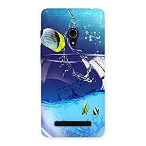 Stylish Cute Tub Fish Back Case Cover for Zenfone 5