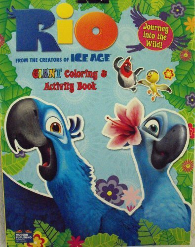 RIO Coloring & Activity Book 96 Pg ~ Journey into the wild cover - 1