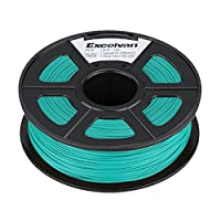 Excelvan 1.75mm PLA 3D Printer Filament - 1kg Spool (2.2 lbs) - Dimensional Accuracy +/- 0.02mm - Multi Colors Available (grass green) from Excelvan