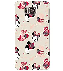 PrintDhaba Minnie Mouse D-2174 Back Case Cover for SAMSUNG GALAXY ALPHA (Multi-Coloured)