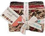 Moda WINTERGREEN Fat Eighth Bundle 40 Precut Cotton Fabric Quilting FQ8s Assortment 3 Sisters 44010F8