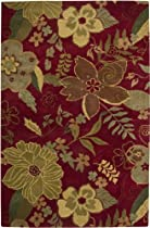 Big Sale Rizzy Home PR1744 Pandora 8-Feet by 10-Feet Area Rug, Red