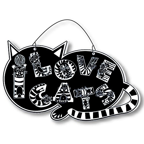 Cool Cats Crazy Alphabet-Cat Laser-Etched 3-In-1 Plaques Ver2 Cat Lady Black front-434562