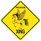 Pegasus Xing caution Crossing Sign mystical Gift
