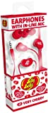 Jelly Belly In-Ear Headphones with In-Line Mic for iPhone, iPod and MP3 Devices - Very Cherry Red