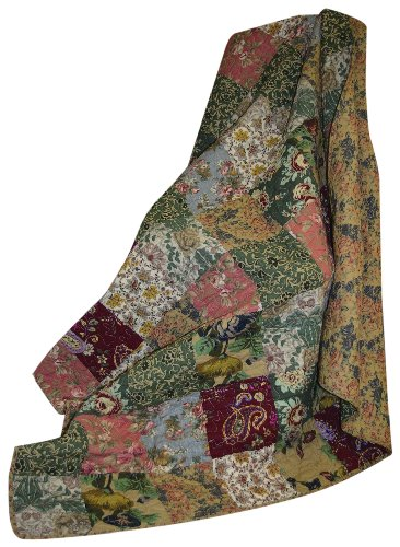 Learn More About Greenland Home Antique Chic Quilted Patchwork Throw