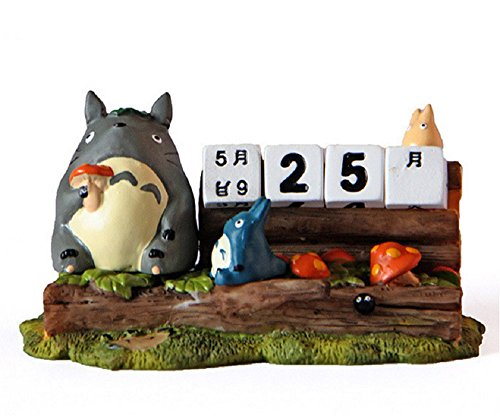 Mini Cute Totoro Calendar Model Toy Cartoon Action Figure PVC Dolls My Neighbor Totoro Movie Kids Toys Christmas Gifts