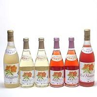 北海道の詩 北海道産葡萄100%おたるスペシャルワイン6本セット(白、ロゼ)720ml×2本 (白、ロゼ)500ml×4本(北海道)