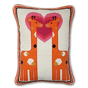 Jonathan Adler Giraffe Needlepoint Throw Pillow