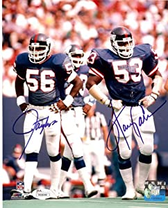 New York Giants Lawrence Taylor & Harry Carson Together Autographed 8x10... by Legends Gallery