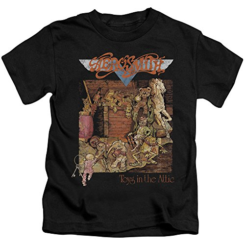 Aerosmith-Maglietta per ragazzi nero Large