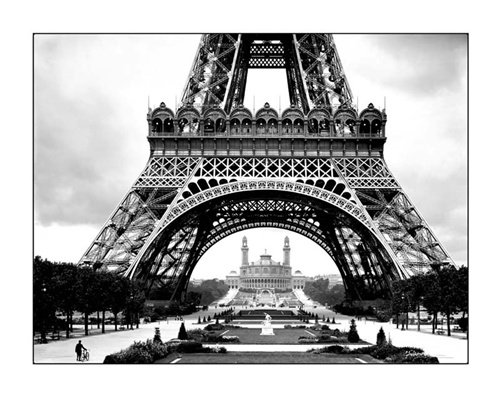 Roger Viollet La Tour Eiffel Tower Paris France Travel Poster Art Print 16 x 20 inches
