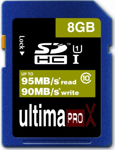 Memzi 8Gb Class 10 Ultima Pro X 95Mb/S Read - 90Mb/S Write Sdhc Memory Card For Bushnell Trail Natureview Series Digital Cameras